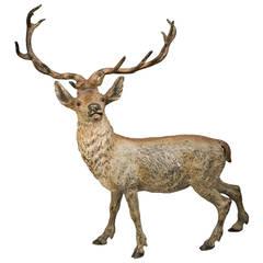 Vienna Bronze Deer, circa 1890