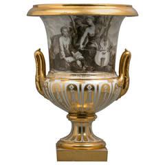 French Porcelain Vase, Locre, circa 1815