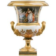 Italian Porcelain Vase, Doccia, circa 1810