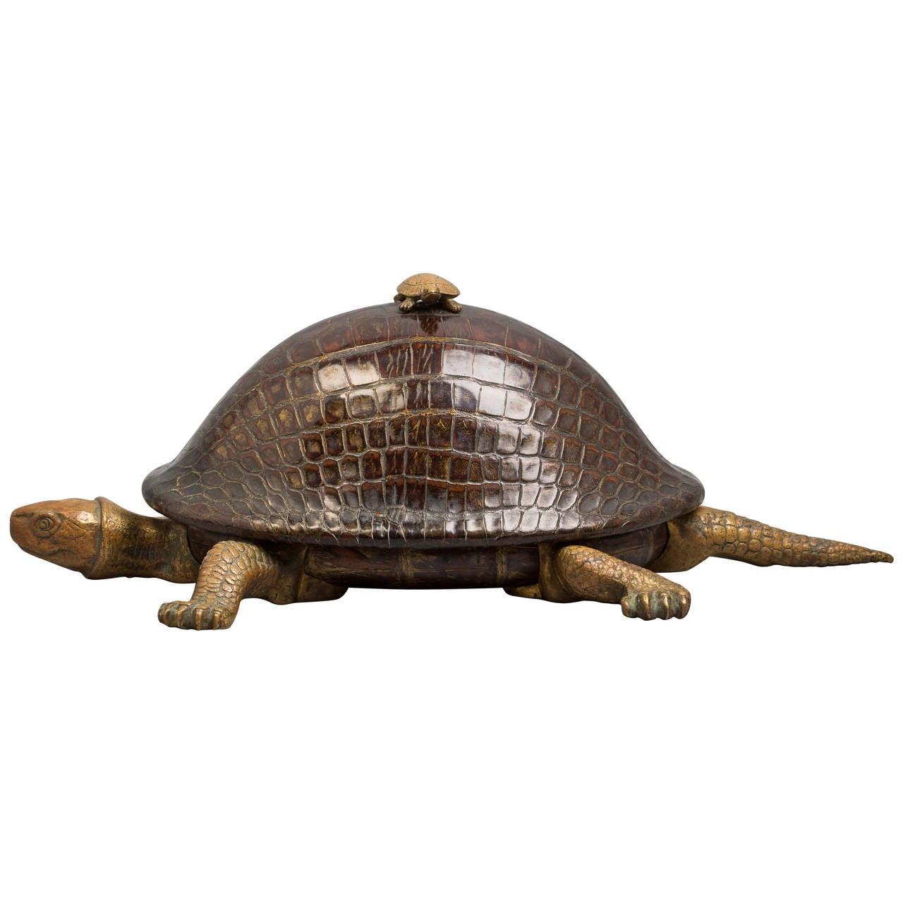 Turtle Inkstand, circa 1875 For Sale