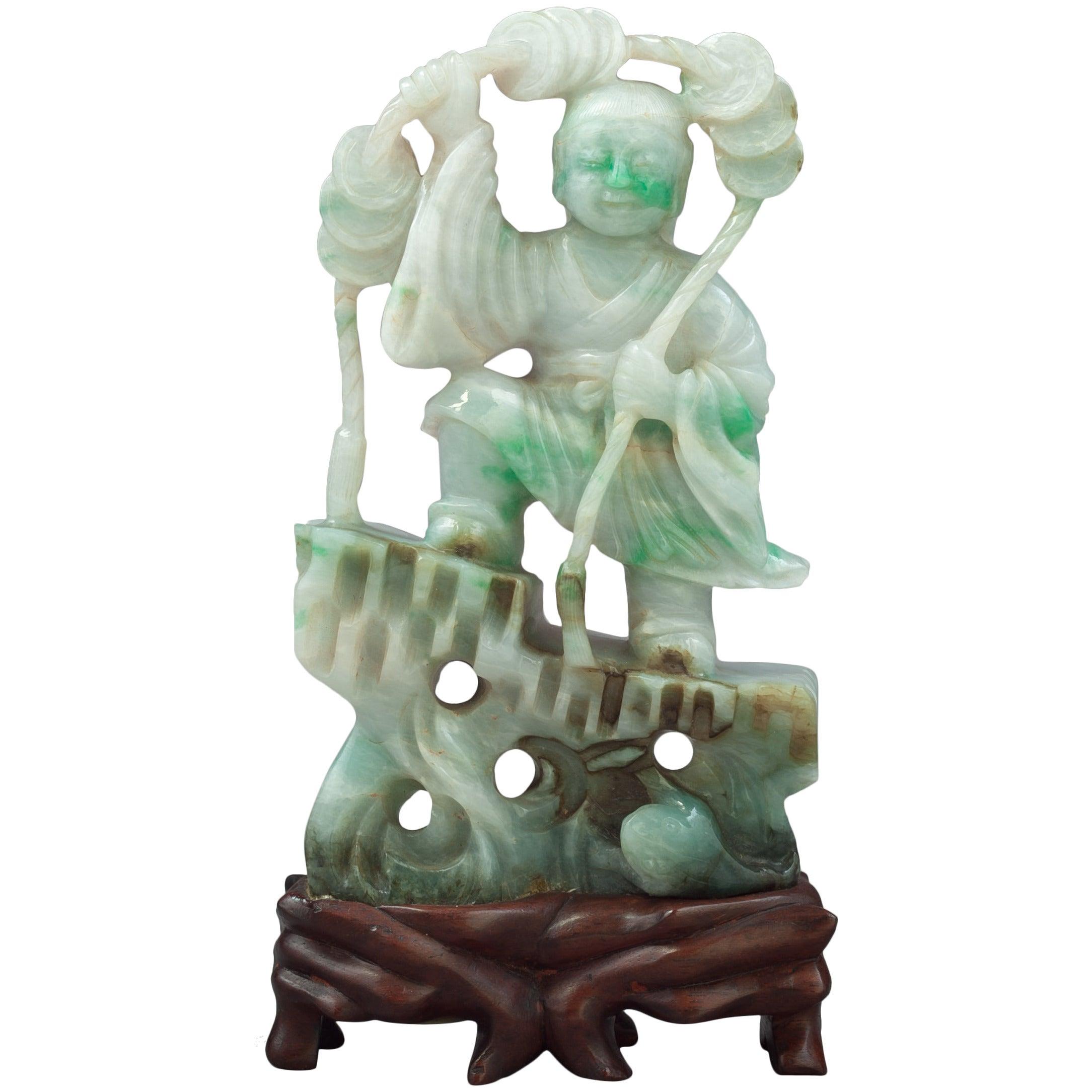 Jade Figure, Early 20th Century