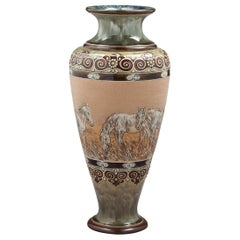 English Stoneware Vase, Royal Doulton, circa 1905