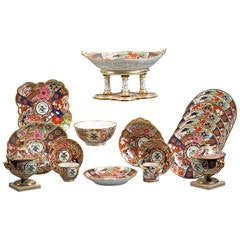 English Flight, Barr and Barr Porcelain 90-Piece Service, circa 1815