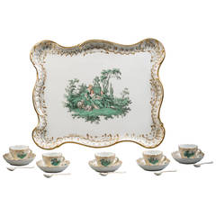 German Meissen Porcelain Demitasse Part Service, circa 1880