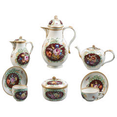 German Meissen 'Marcolini' Porcelain Tea and Coffee Service, circa 1790