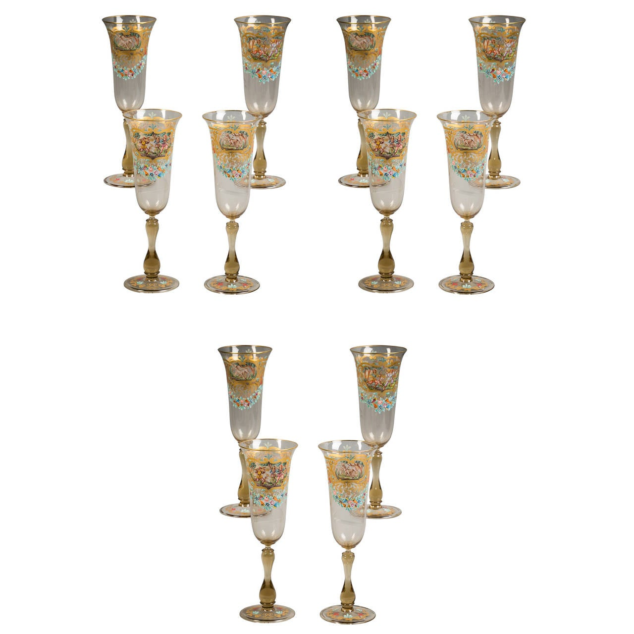 Set of 12 French Goblets, circa 1880 For Sale