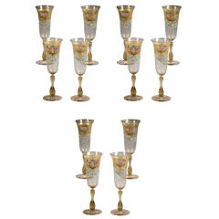 Set of 12 French Goblets, circa 1880