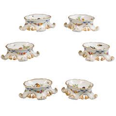 Set of Six German Porcelain Salts, Meissen Marcolini, circa 1800