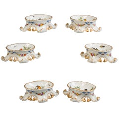 Set of Six German Porcelain Salts, Meissen Marcolini, circa 1800