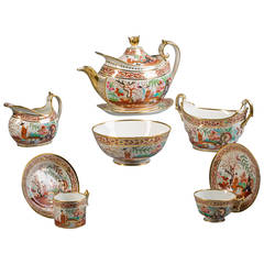English Flight Barr and Barr Porcelain Tea Set, circa 1820