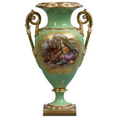 English Porcelain Vase, Flight, Barr & Barr, circa 1820
