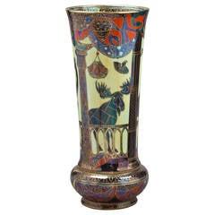 Rare Wedgwood Lahore Pattern Lustre Vase, circa 1925