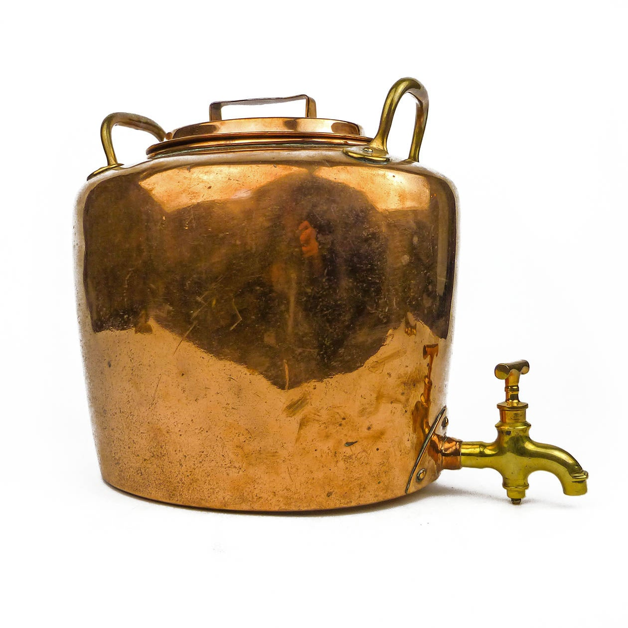 Rare english victorian copper tea or water boiler circa for Copper water boiler