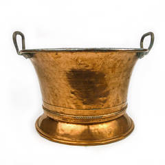 German Two Handled Copper Pot or Jardiniere, circa 1820