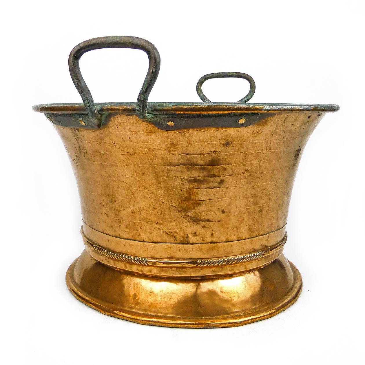 german two handled copper pot or jardiniere circa 1820 for sale at 1stdibs. Black Bedroom Furniture Sets. Home Design Ideas