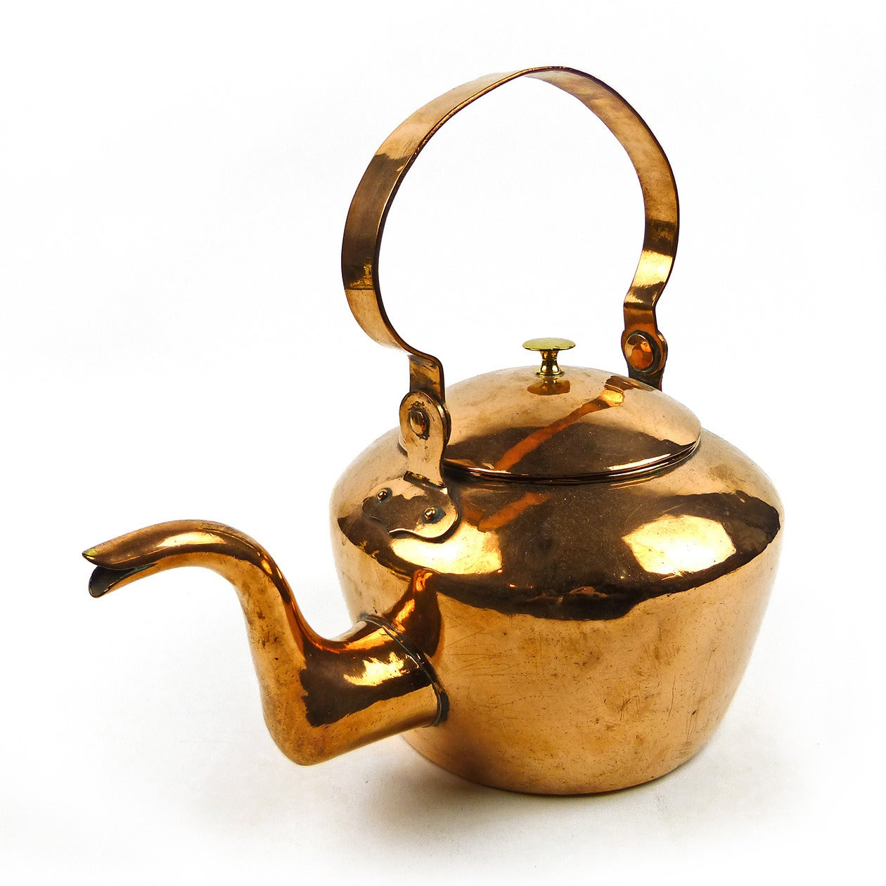 American Copper Tea Kettle Circa 1800 At 1stdibs