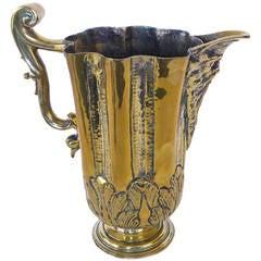 "Iberian Silver Form Brass Ewer or ""Jarro De Pico,"" circa 1600"