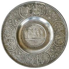 German Pewter Plate, 'Kurfurstenteller', Dated 1619