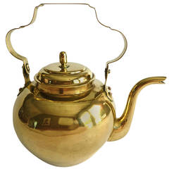 Dutch Brass Tea Kettle, circa 1790