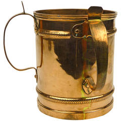 Russian Two-Handled Copper Wash Cup, circa 1850