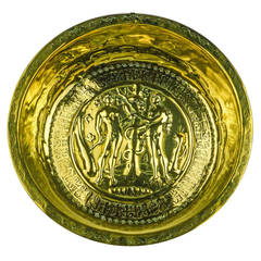 German Brass Alms Dish, circa 1500
