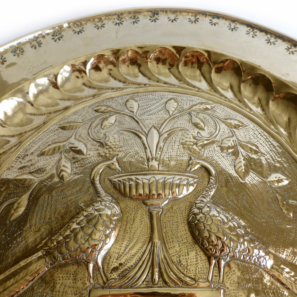 Extremely Rare Large Size German Brass Alms Dish, circa 1500 3