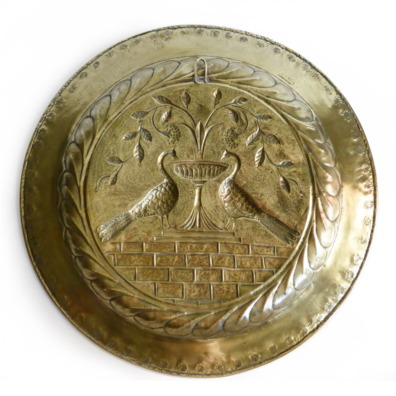 Extremely Rare Large Size German Brass Alms Dish, circa 1500 2