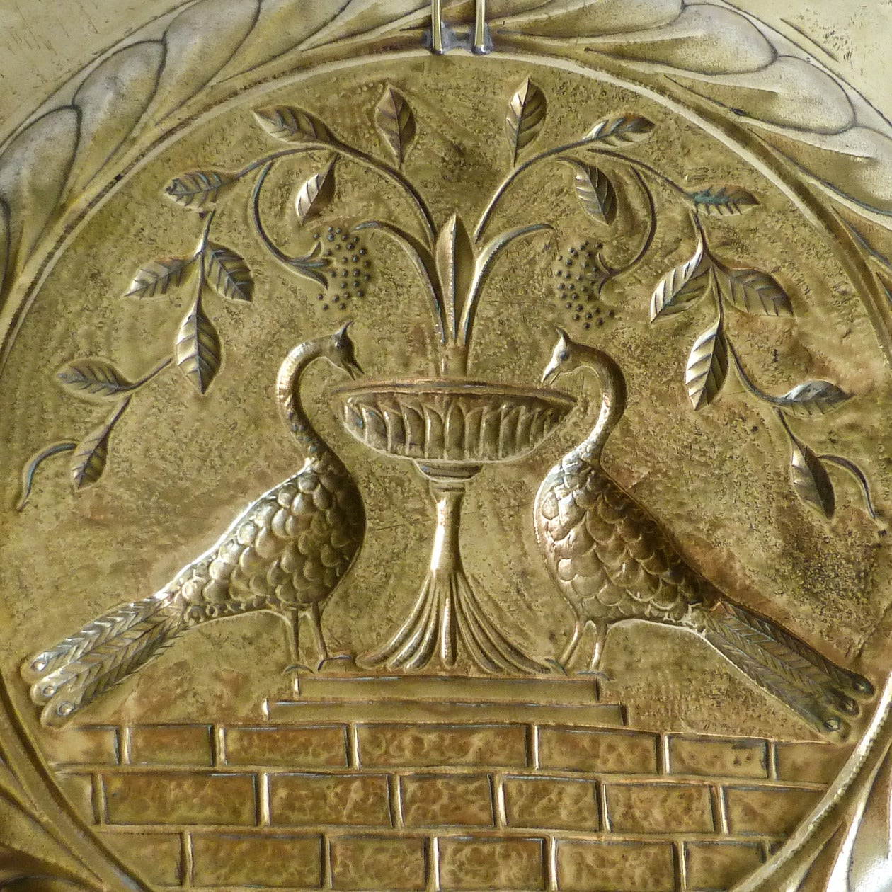 Extremely Rare Large Size German Brass Alms Dish, circa 1500 5