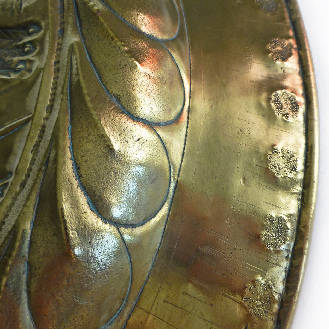 Extremely Rare Large Size German Brass Alms Dish, circa 1500 7