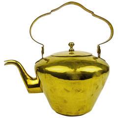 Dutch Brass Tea Kettle, circa 1800