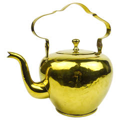 Dutch Brass Tea Kettle, circa 1780