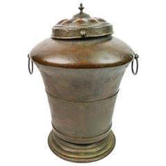 Early French Copper and Brass Water Container, circa 1790
