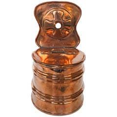 German Copper Salt Box, circa 1780