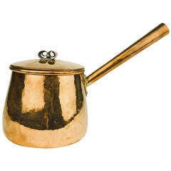 American Copper Saucepan with Lid, circa 1840