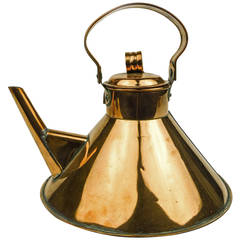 "English Copper ""Ships"" Kettle, circa 1890"
