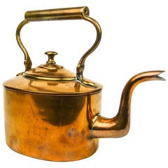 English Copper Tea Kettle, circa 1840