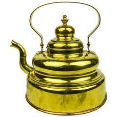 Dutch Brass Tea Kettle, circa 1850