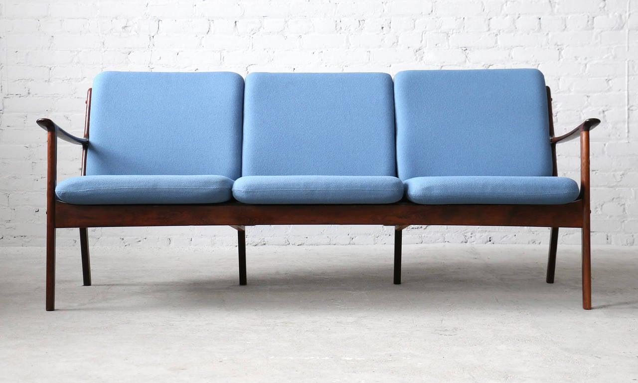 Modern lounge chair pj 112 by ole wanscher modern lounge danish modern - Ole Wanscher Danish Modern P Jeppesen Brazilian Rosewood