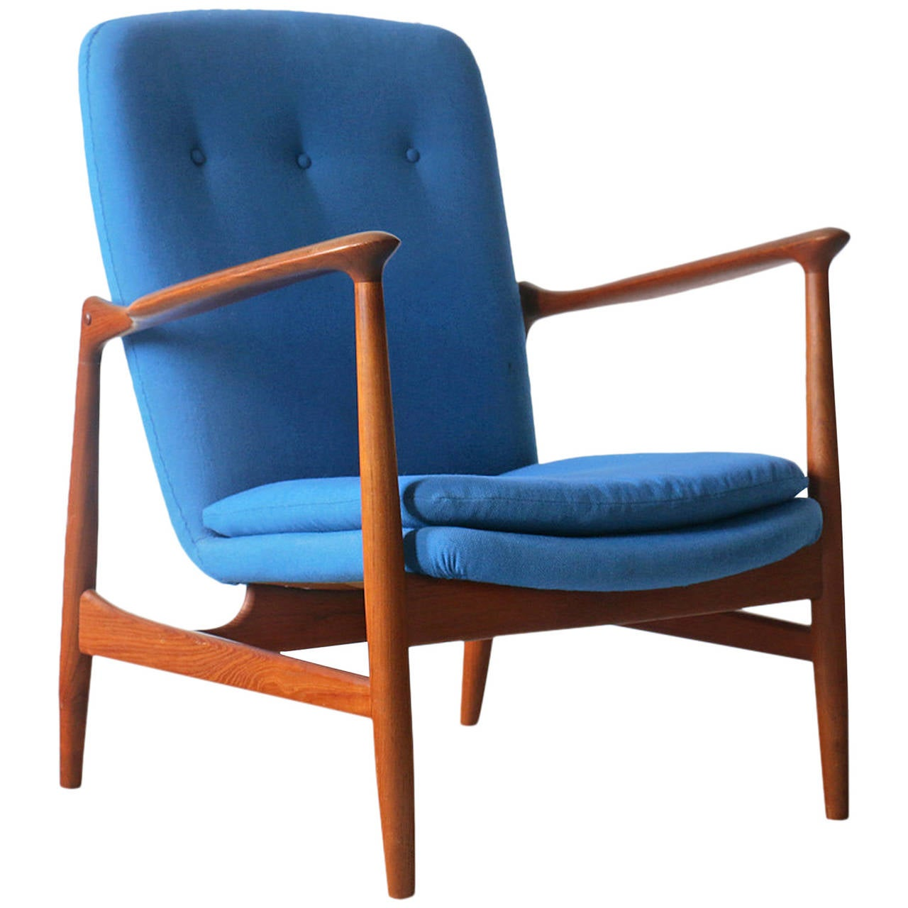 Great Finn Juhl BO98 Bovirke Vintage Danish Modern Teak Easy Chair 1