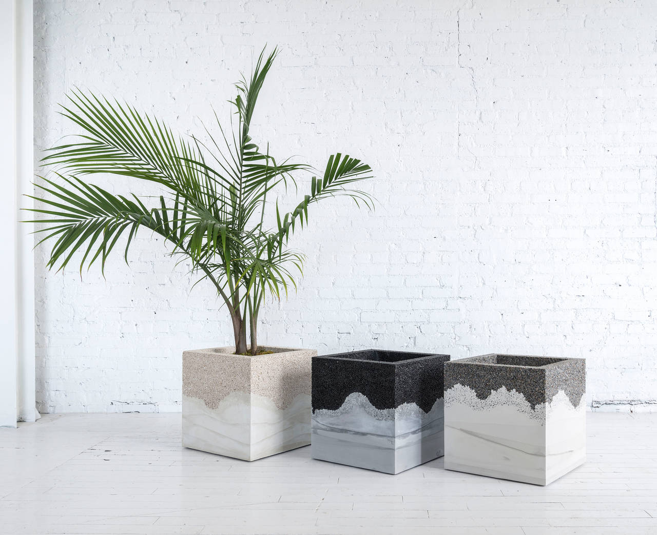Crushed Porcelain and Cement Planter by Fernando ...