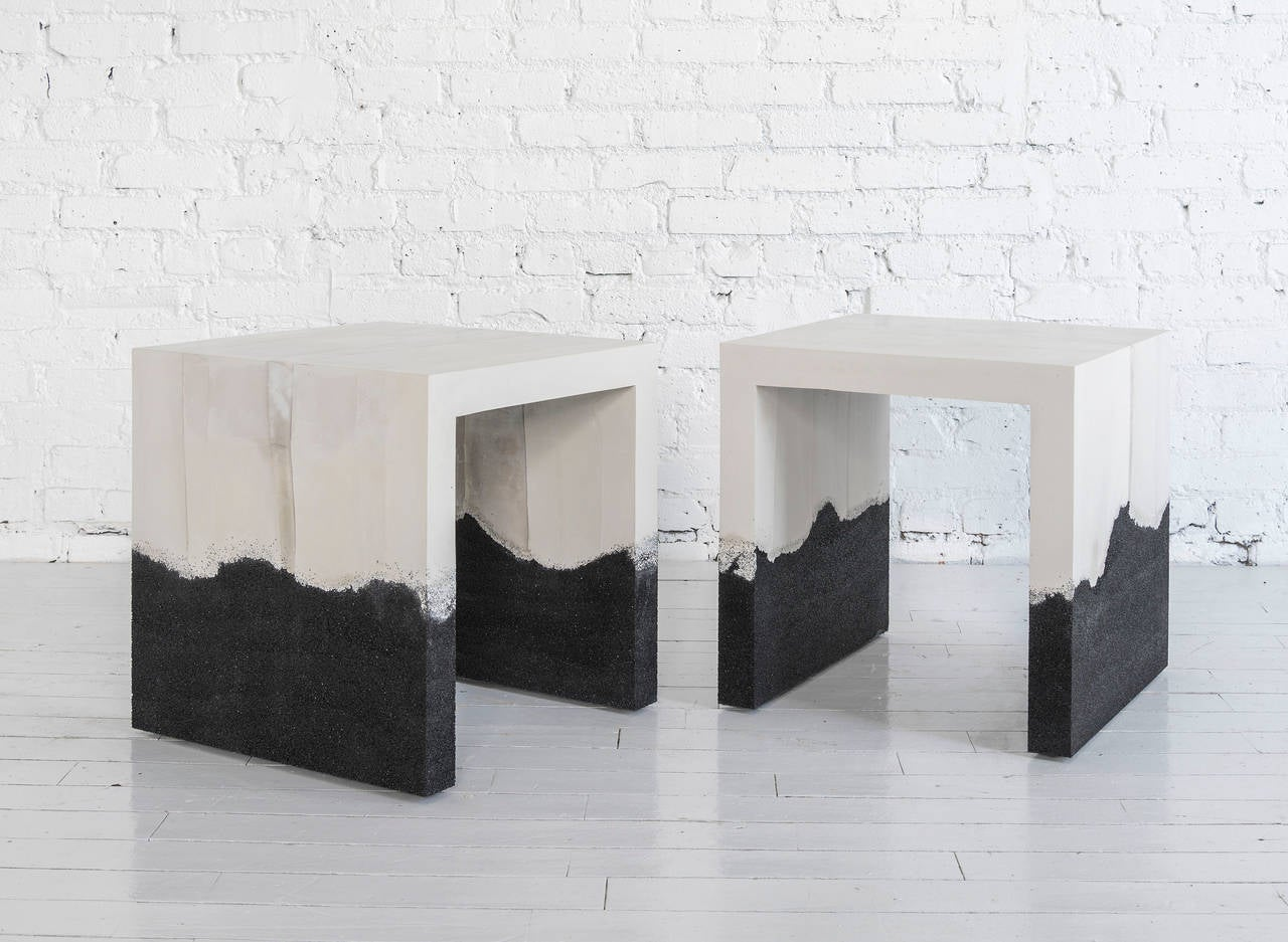 Raw Cement and Black Silica Side Table 5