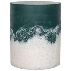 Hunter Green Cement and Rock Salt Drum by Fernando Mastrangelo