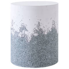 Lavender Cement and Crushed Glass Drum by Fernando Mastrangelo