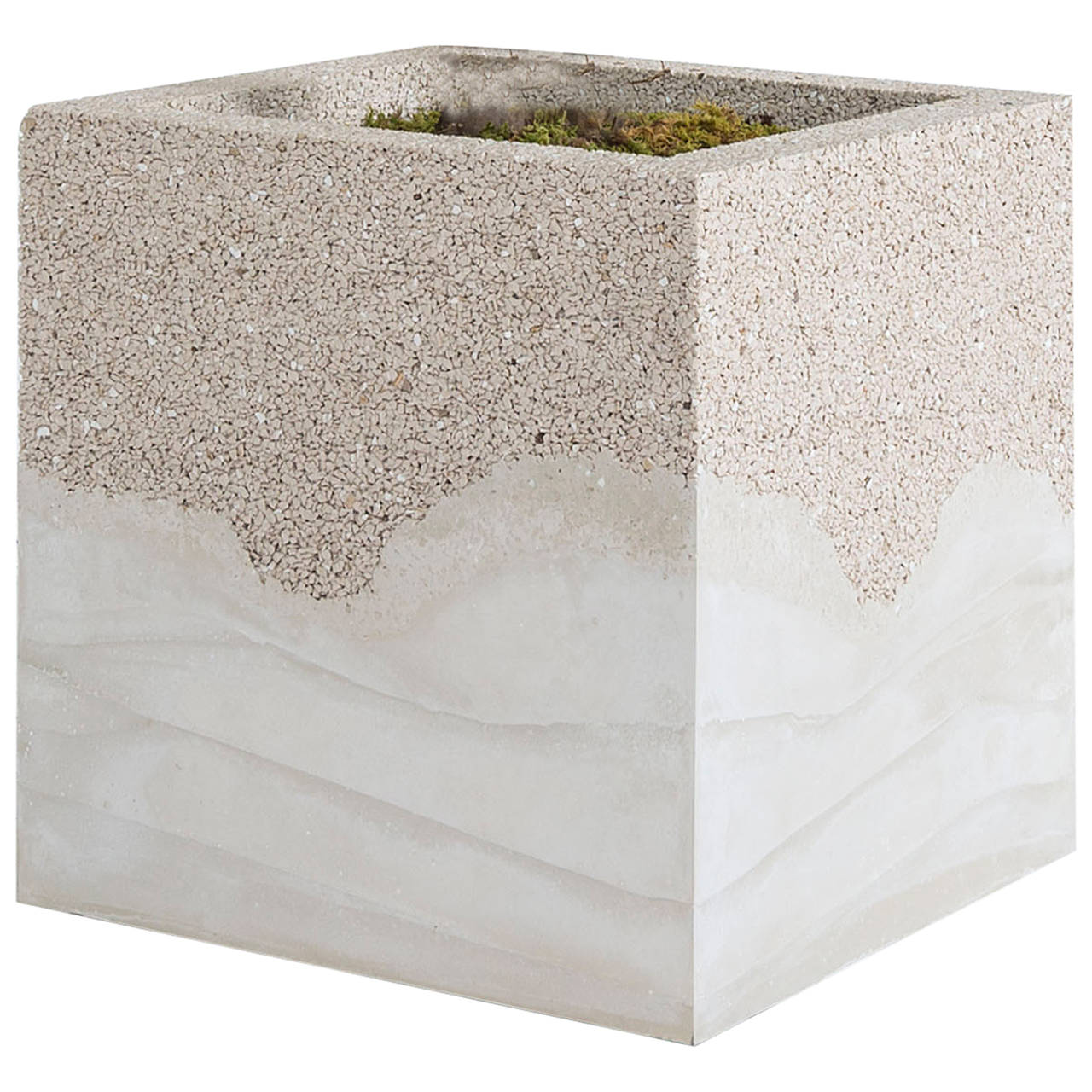 Crushed Porcelain and Cement Planter by Fernando Mastrangelo 1