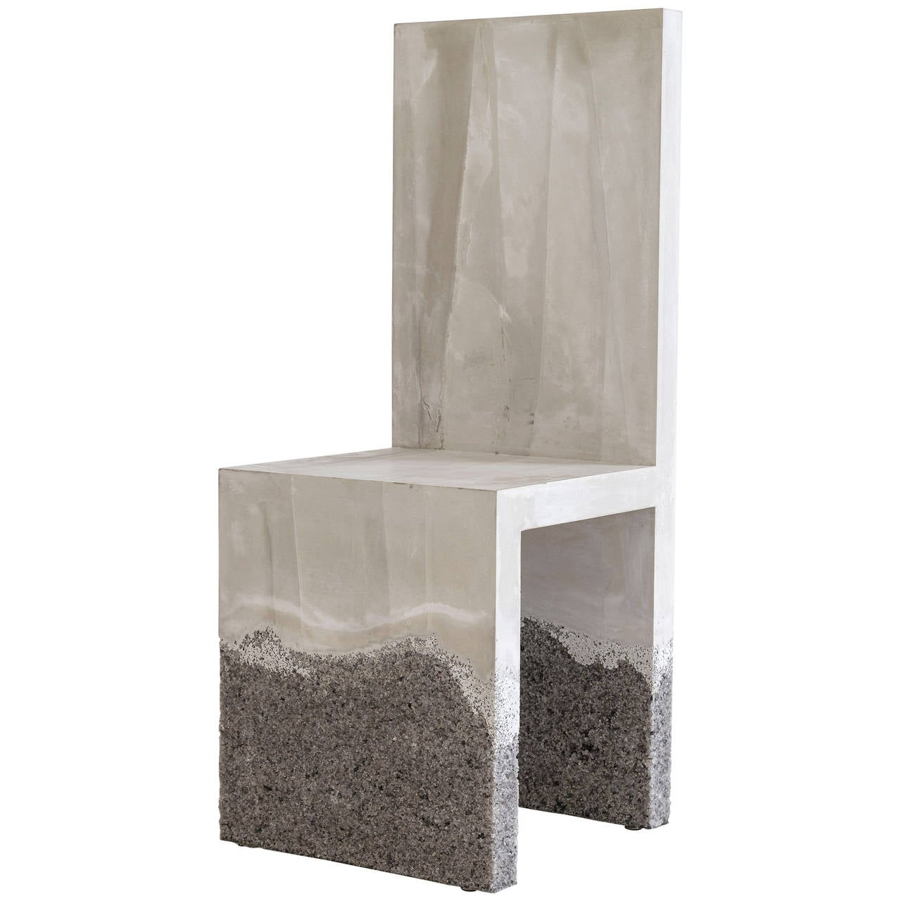 Raw Cement And Rock Salt Chair By Fernando Mastrangelo For Sale