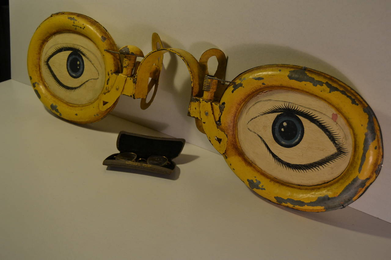 Rare Antique Optometrist Trade Sign 2