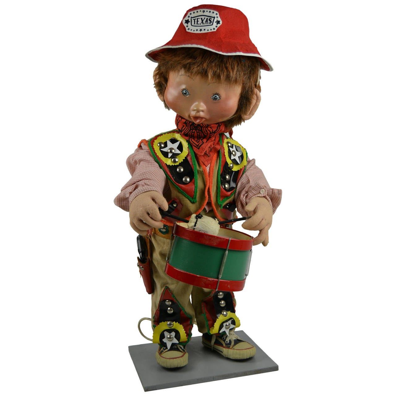 1960s Mechanical Cowboy Doll Playing the Drum