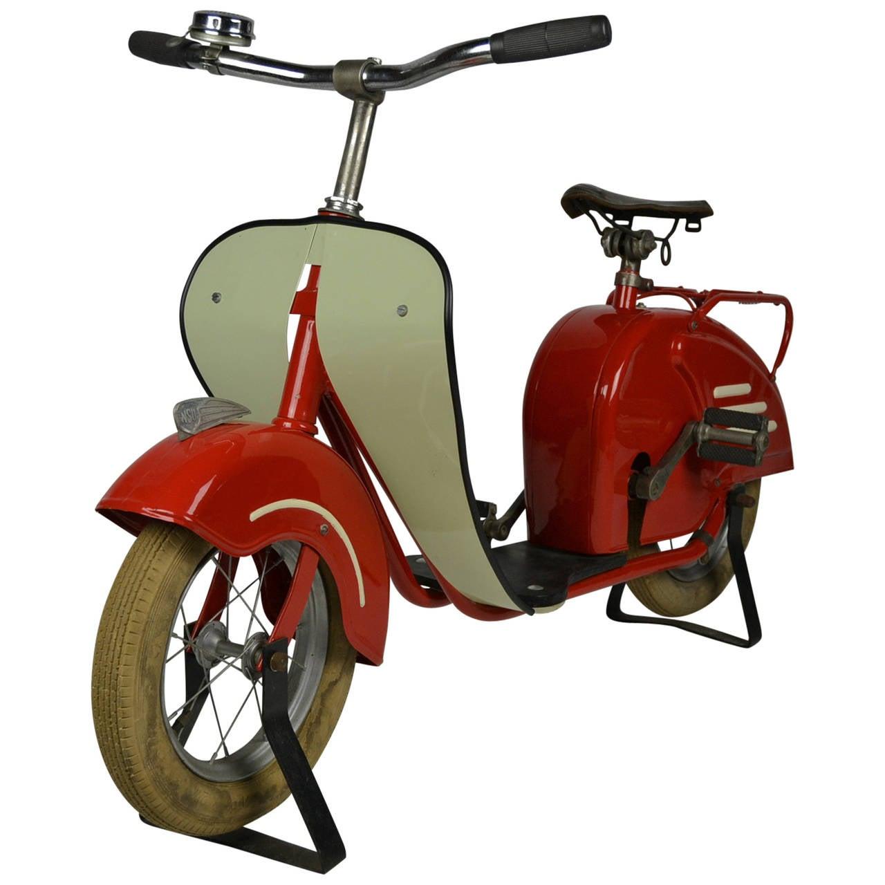 Carousel Pedal Scooter, circa 1950