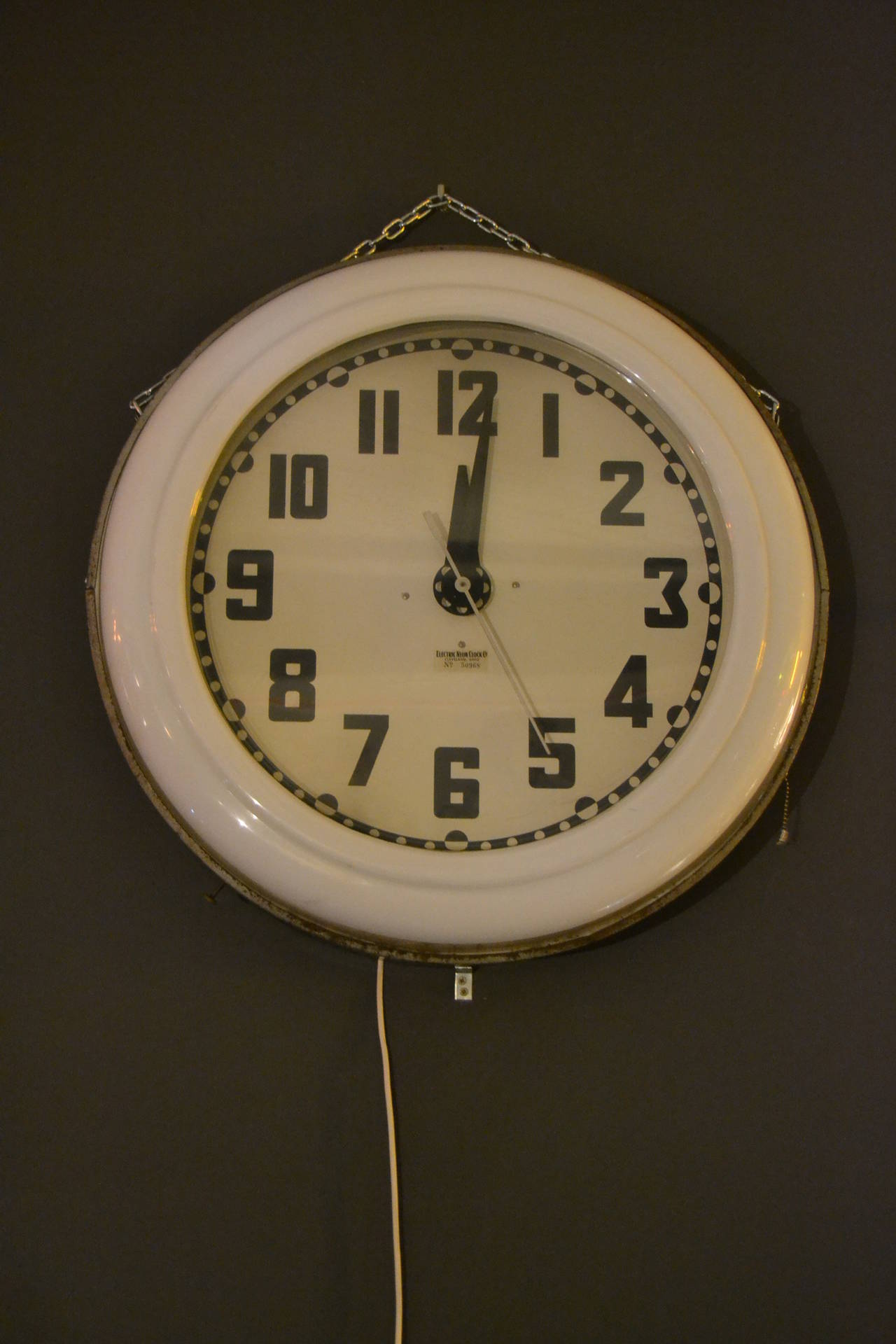 Large 1930s art deco electric neon clock cleveland ohio for sale large 1930s art deco electric neon clock cleveland ohio 2 amipublicfo Image collections