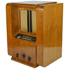 Art Deco 1930s Wooden Tubes Radio Magnetic.6